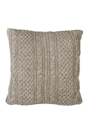 The Birch Tree Cable Knit Floor Pillow - Front cropped