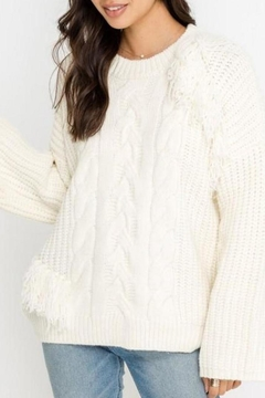 Shoptiques Product: Cable-Knit Fringe Sweater
