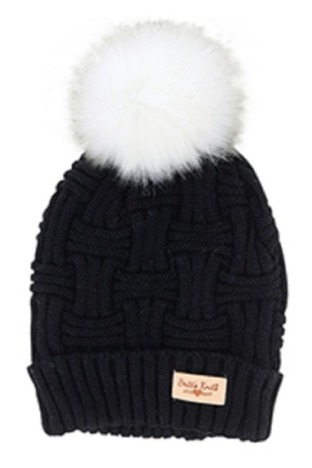 Bling It Around Again Cable Knit Hat - Front Cropped Image