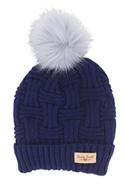 Bling It Around Again Cable Knit Hat - Front cropped