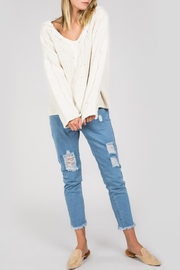 POL Cable-Knit Hooded Sweater - Product Mini Image