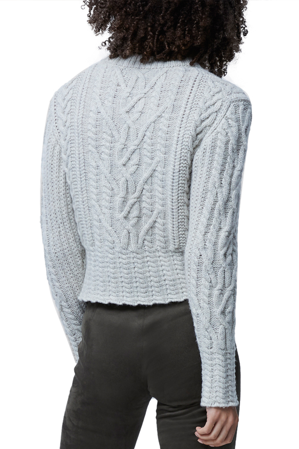 French Connection Cable Knit Jumper - Back Cropped Image