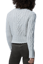 French Connection Cable Knit Jumper - Back cropped