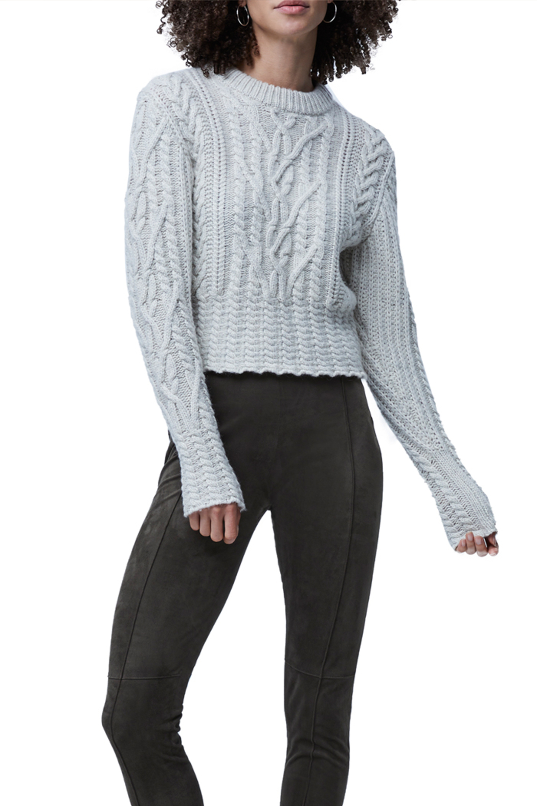 French Connection Cable Knit Jumper - Main Image