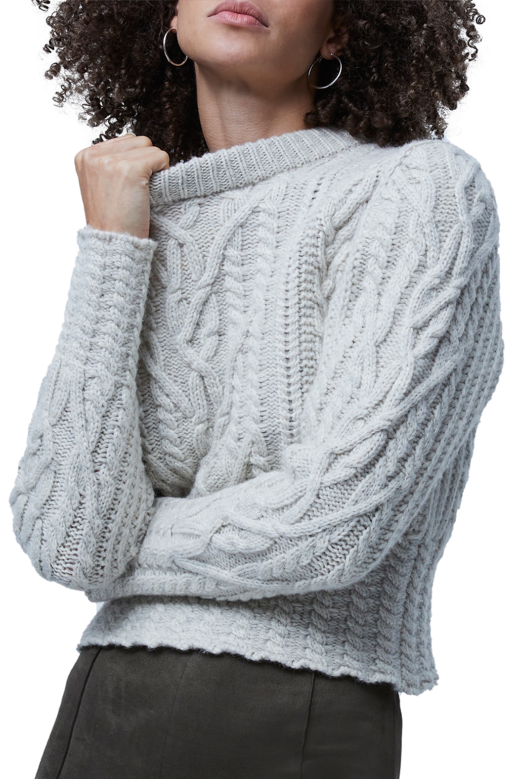 French Connection Cable Knit Jumper - Front Full Image