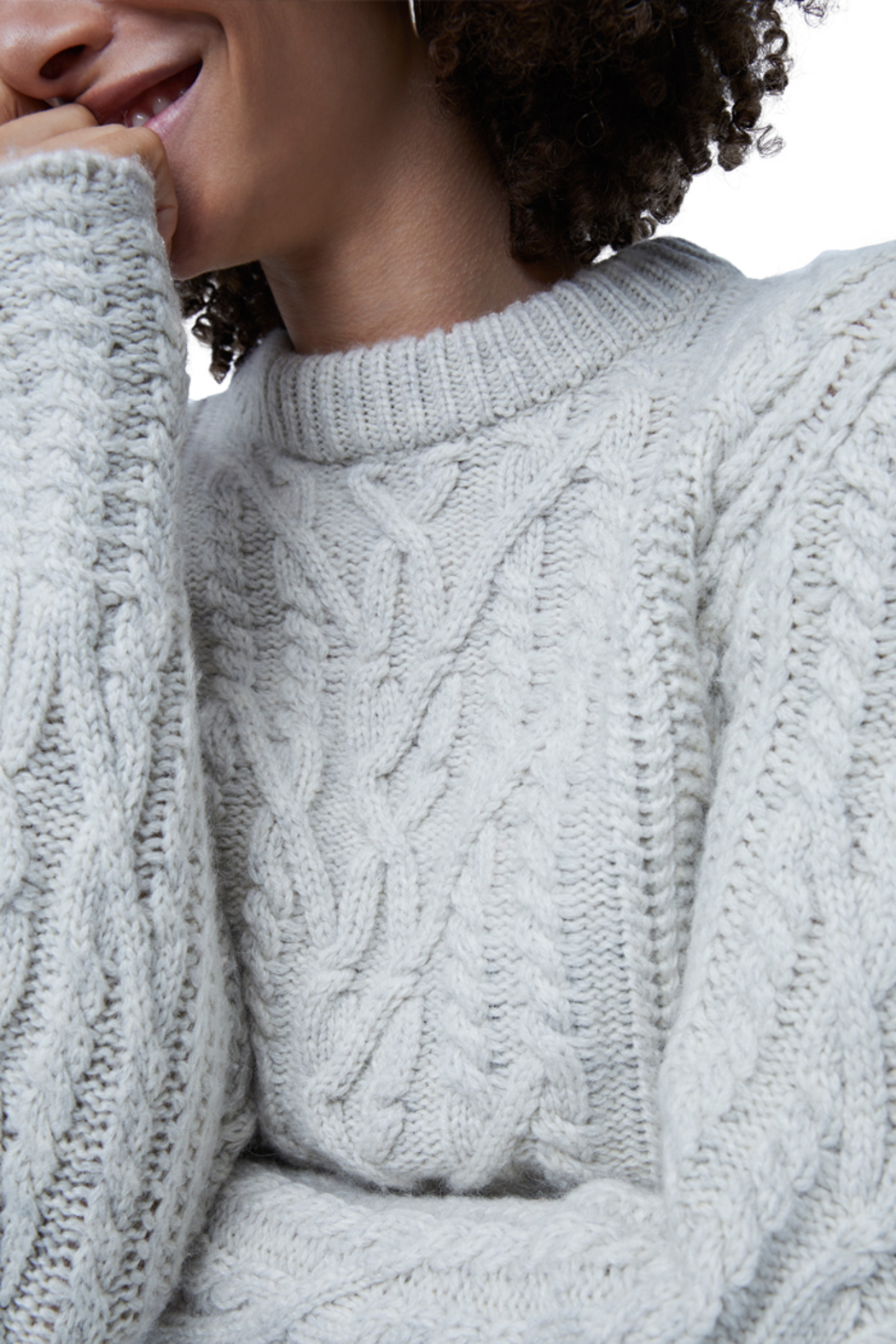 French Connection Cable Knit Jumper - Side Cropped Image