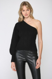 Fate  Cable Knit One Shoulder - Product Mini Image