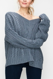 Favlux Cable Knit Oversized - Front cropped
