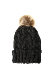 Joy Accessories Cable Knit Pom Pom Hat - Product Mini Image