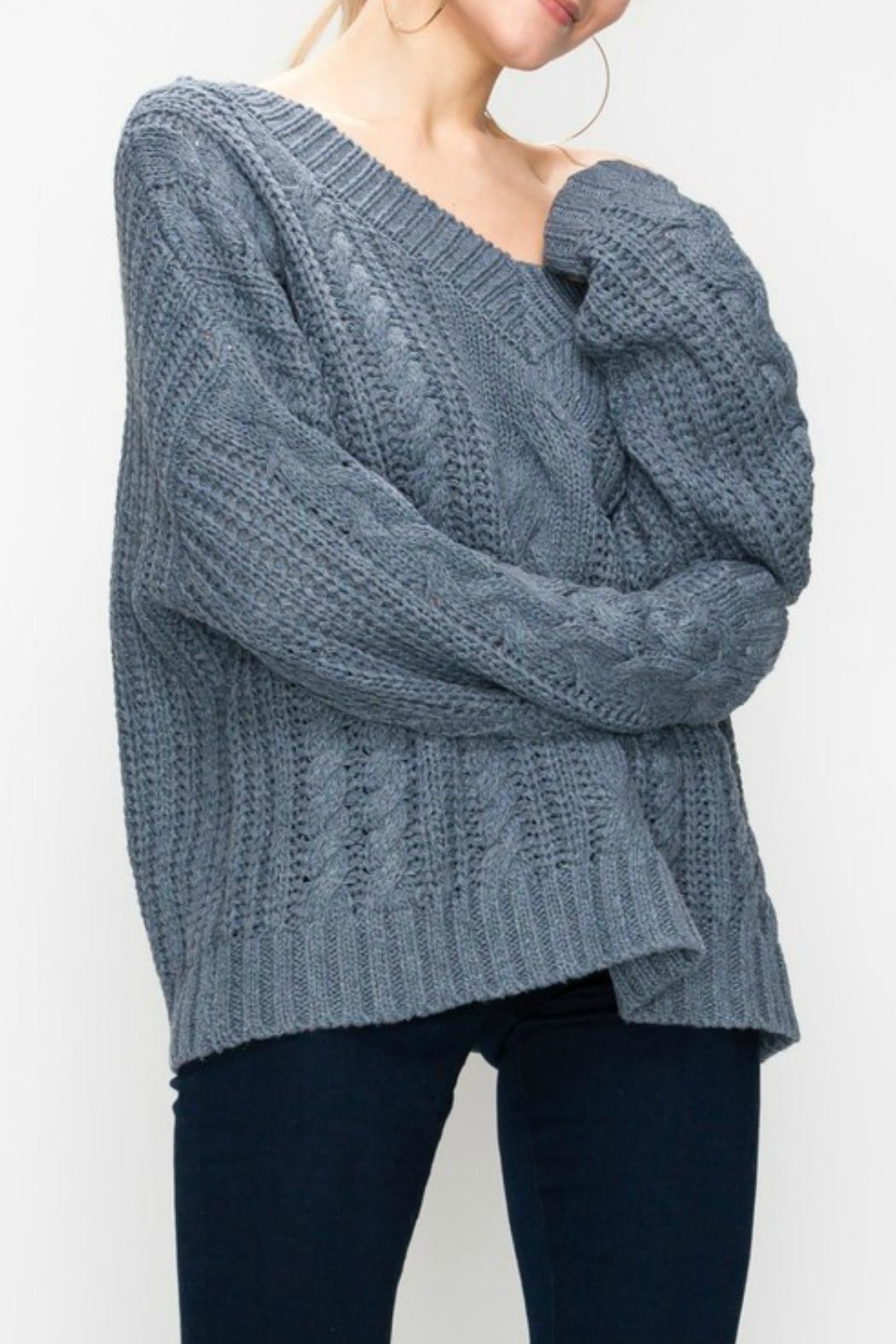 Favlux Cable Knit Sweater - Front Full Image