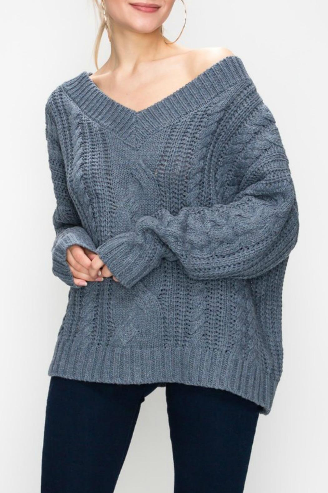 Favlux Cable Knit Sweater - Main Image