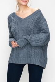 Favlux Cable Knit Sweater - Front cropped