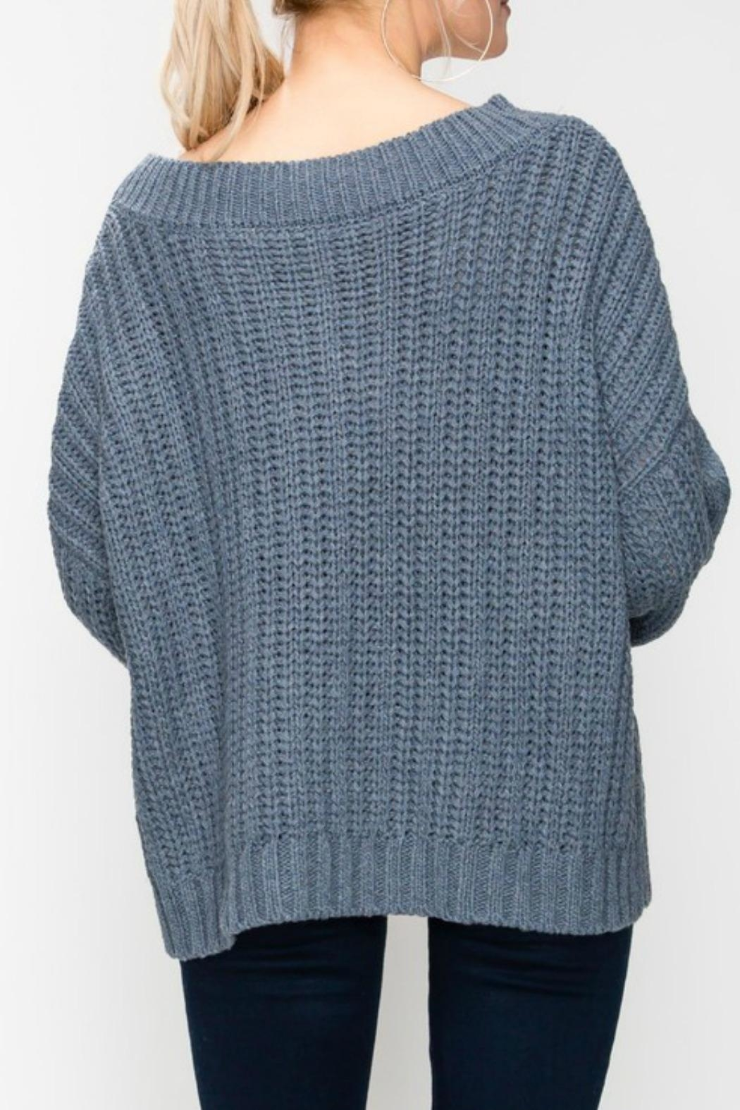 Favlux Cable Knit Sweater - Side Cropped Image