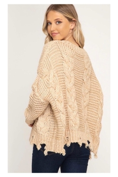 Polly & Esther Cable Knit Sweater - Alternate List Image