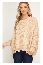 Polly & Esther Cable Knit Sweater - Product Mini Image