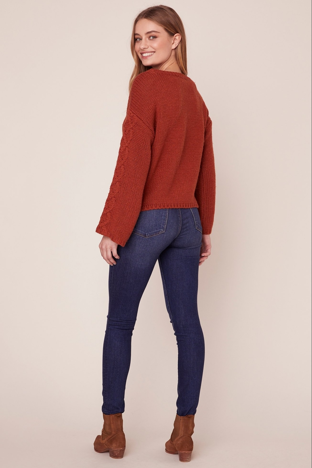 BB Dakota CABLE KNIT SWEATER - Front Full Image
