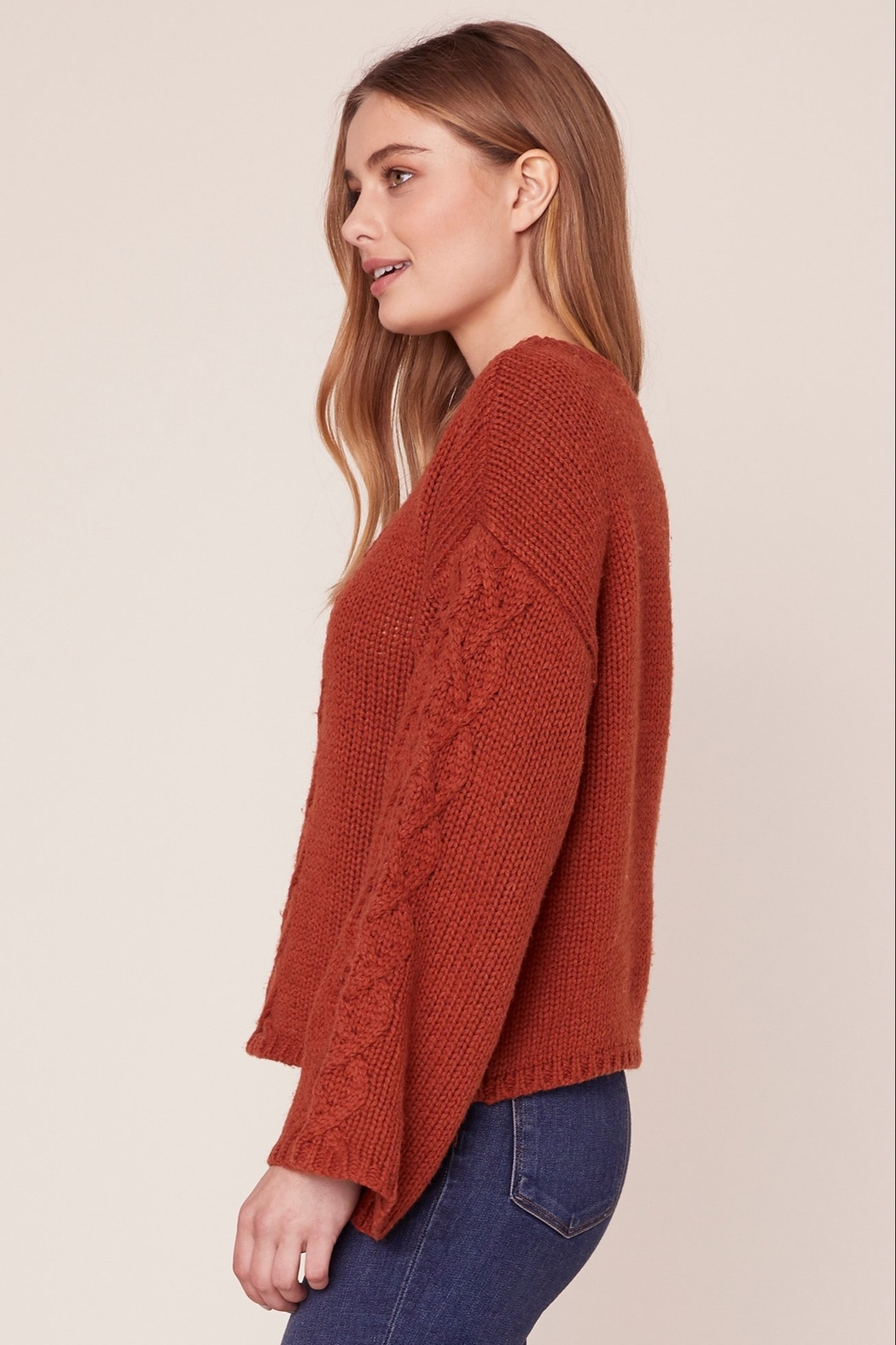 BB Dakota CABLE KNIT SWEATER - Side Cropped Image