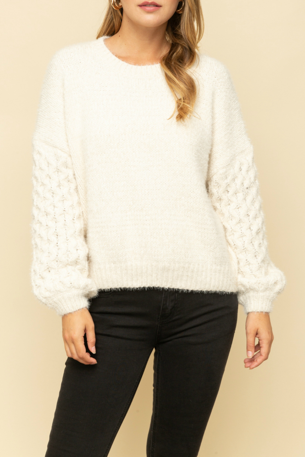 Mystree Cable knit sweater - Main Image