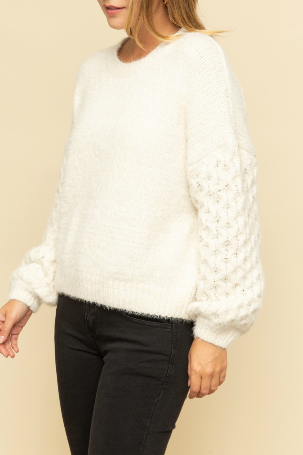 Mystree Cable knit sweater - Front Full Image