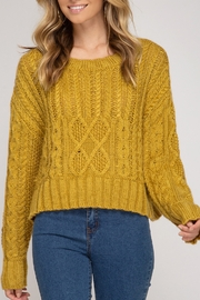 She and Sky Cable Knit Sweater - Product Mini Image