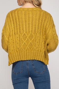 She and Sky Cable Knit Sweater - Alternate List Image