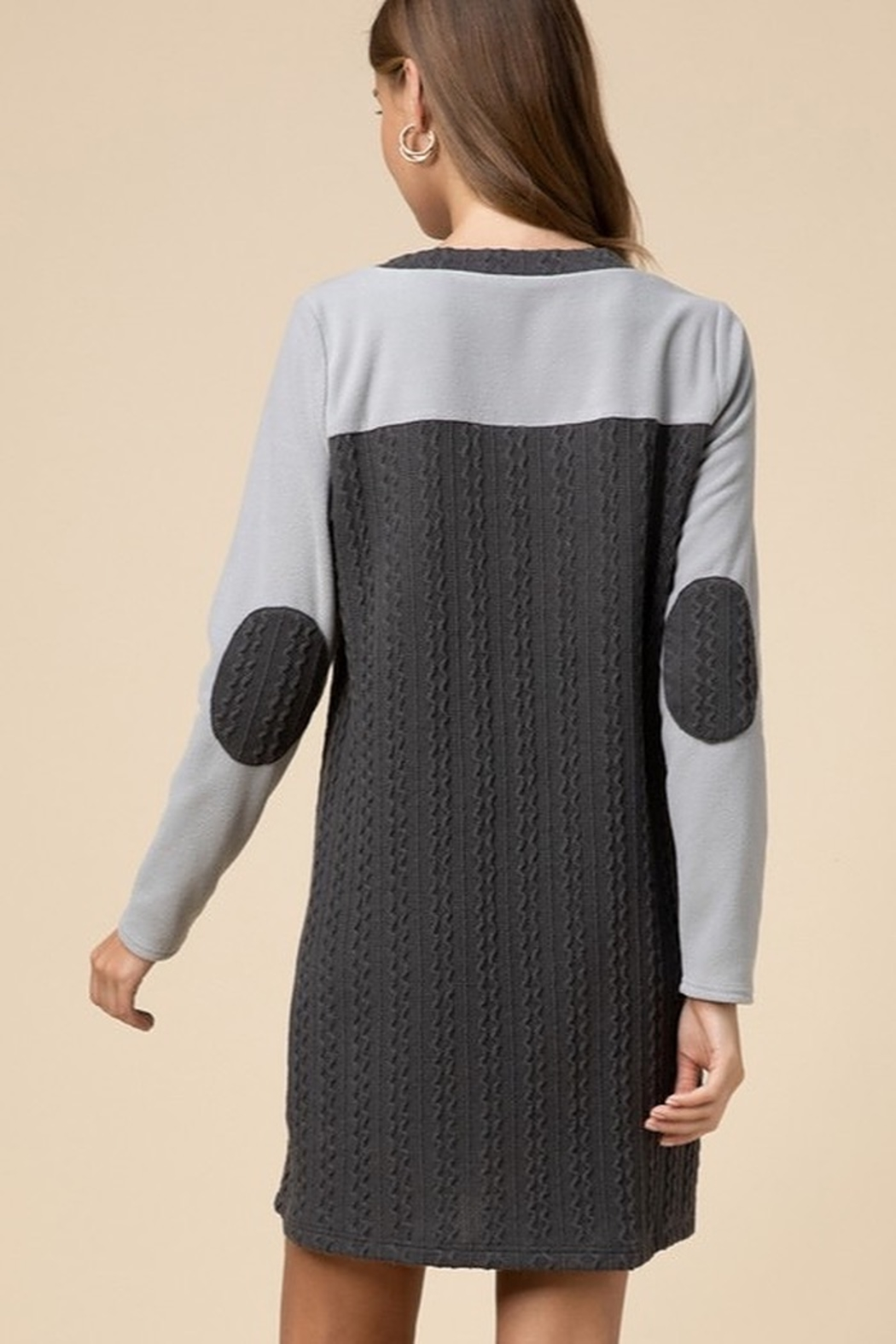entro  Cable-knit sweater dress - Front Full Image