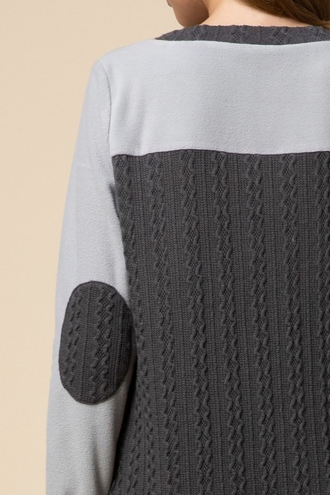 entro  Cable-knit sweater dress - Side Cropped Image