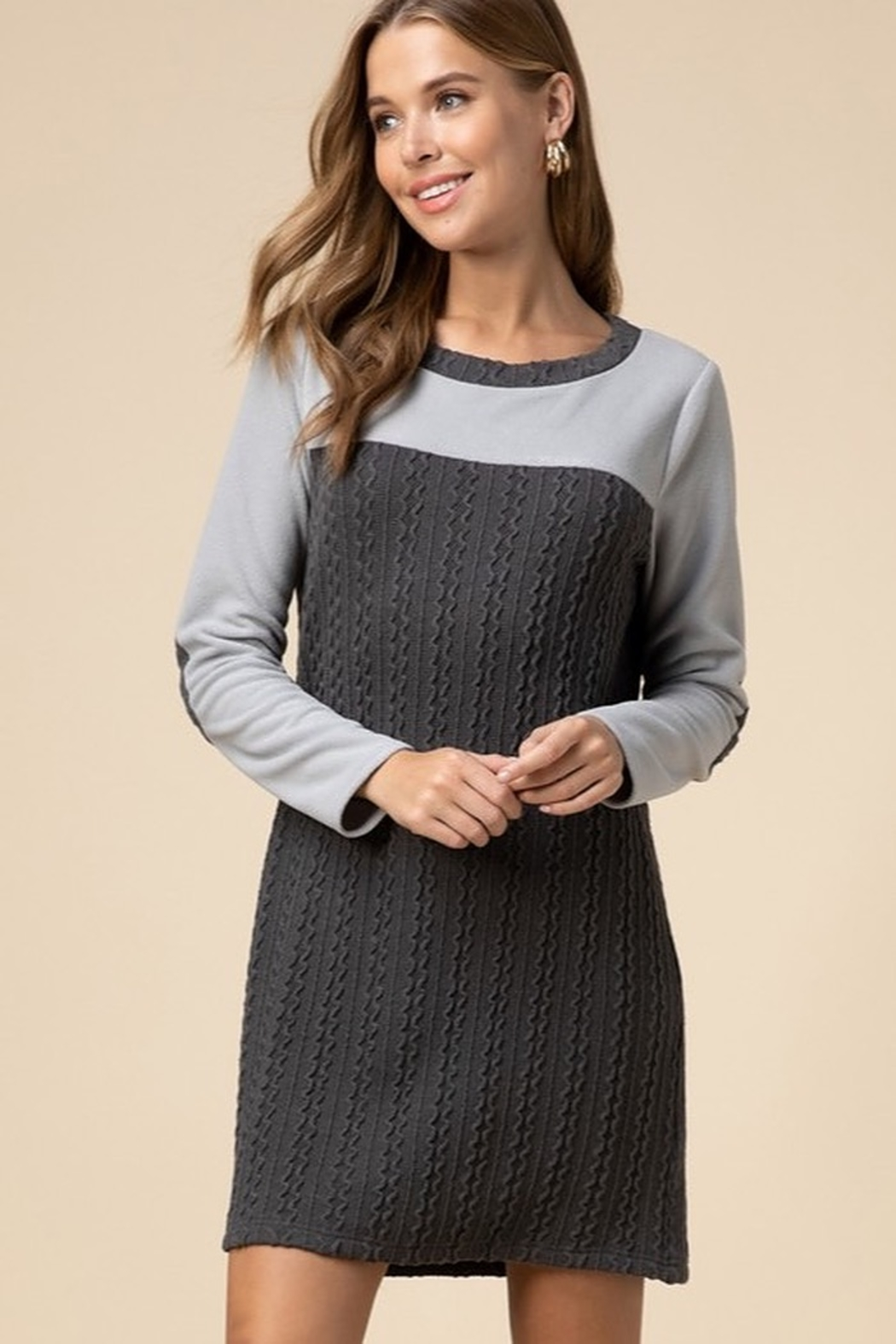 entro  Cable-knit sweater dress - Main Image