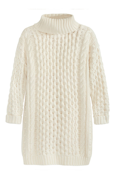 525 America Cable Knit Sweater Dress - Alternate List Image
