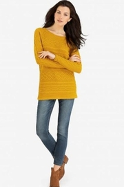 Tribal  Cable Knit Sweater, Ochre - Product Mini Image