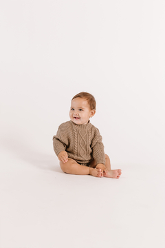 Quincy Mae Cable Knit Sweater - Olive - Alternate List Image