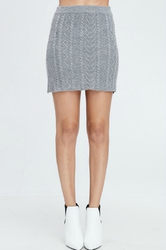 Shoptiques Product: Cable-Knit Sweater Skirt