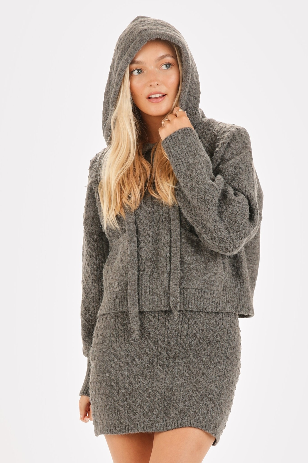 Very J  Cable Knit Sweater & Skirt Set - Main Image