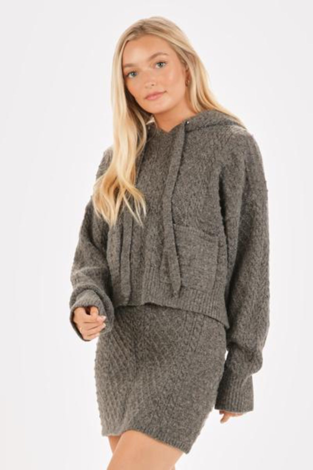 Very J  Cable Knit Sweater & Skirt Set - Side Cropped Image