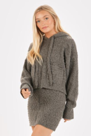 Very J  Cable Knit Sweater & Skirt Set - Side cropped