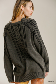 umgee  CABLE KNIT SWTR - Side cropped