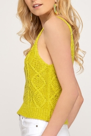 She + Sky Cable Knit Tank - Product Mini Image