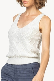 Lilla P Cable Knit Tank - Front full body