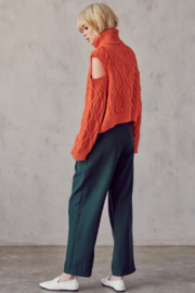 AAAAA FASHIONS Cable Knit Turtleneck - Other