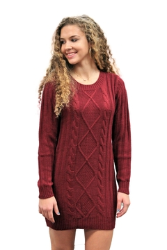 Elan Cable Sweater Dress - Alternate List Image