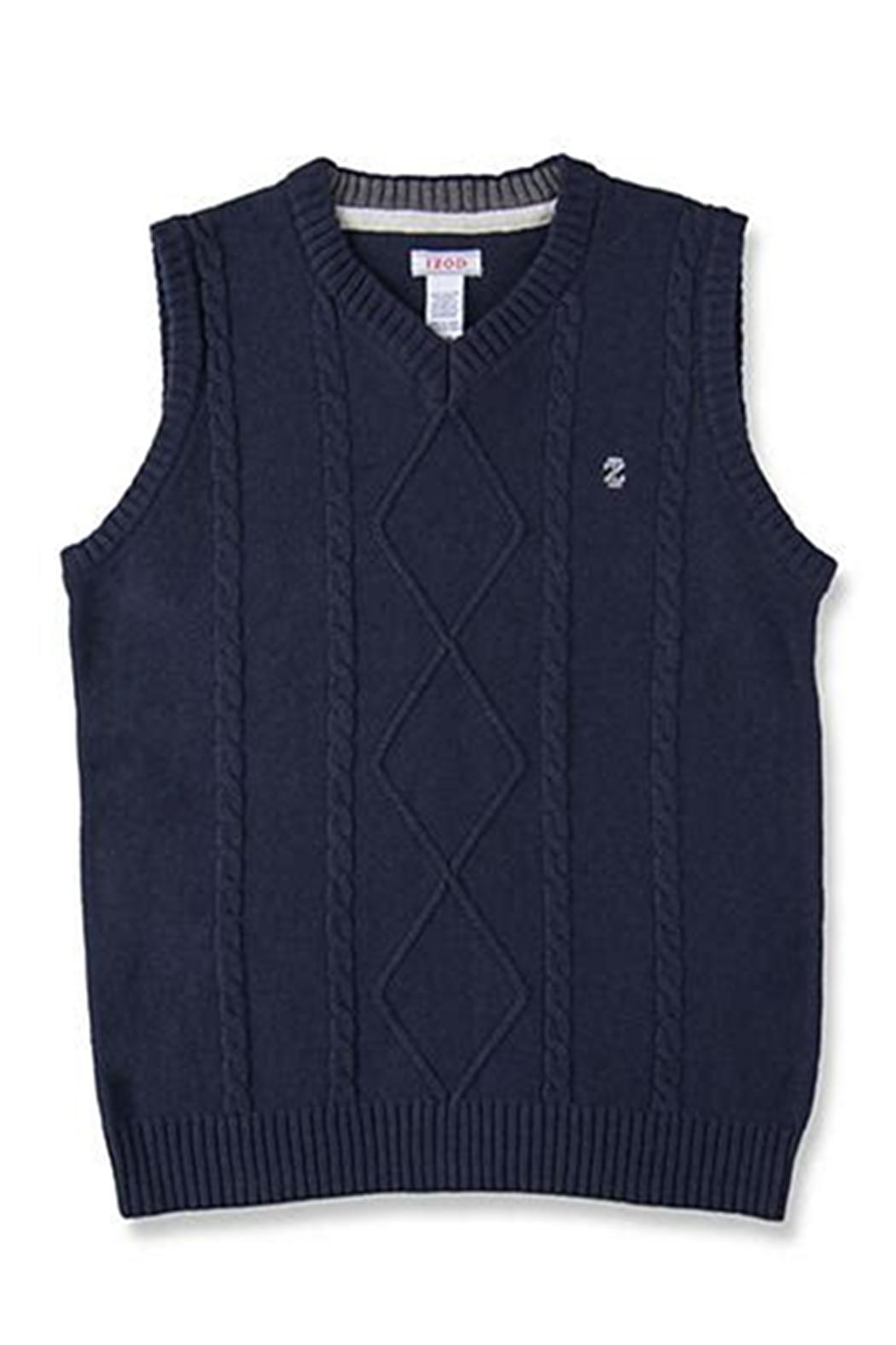 Izod Cable Sweater Vest - Main Image