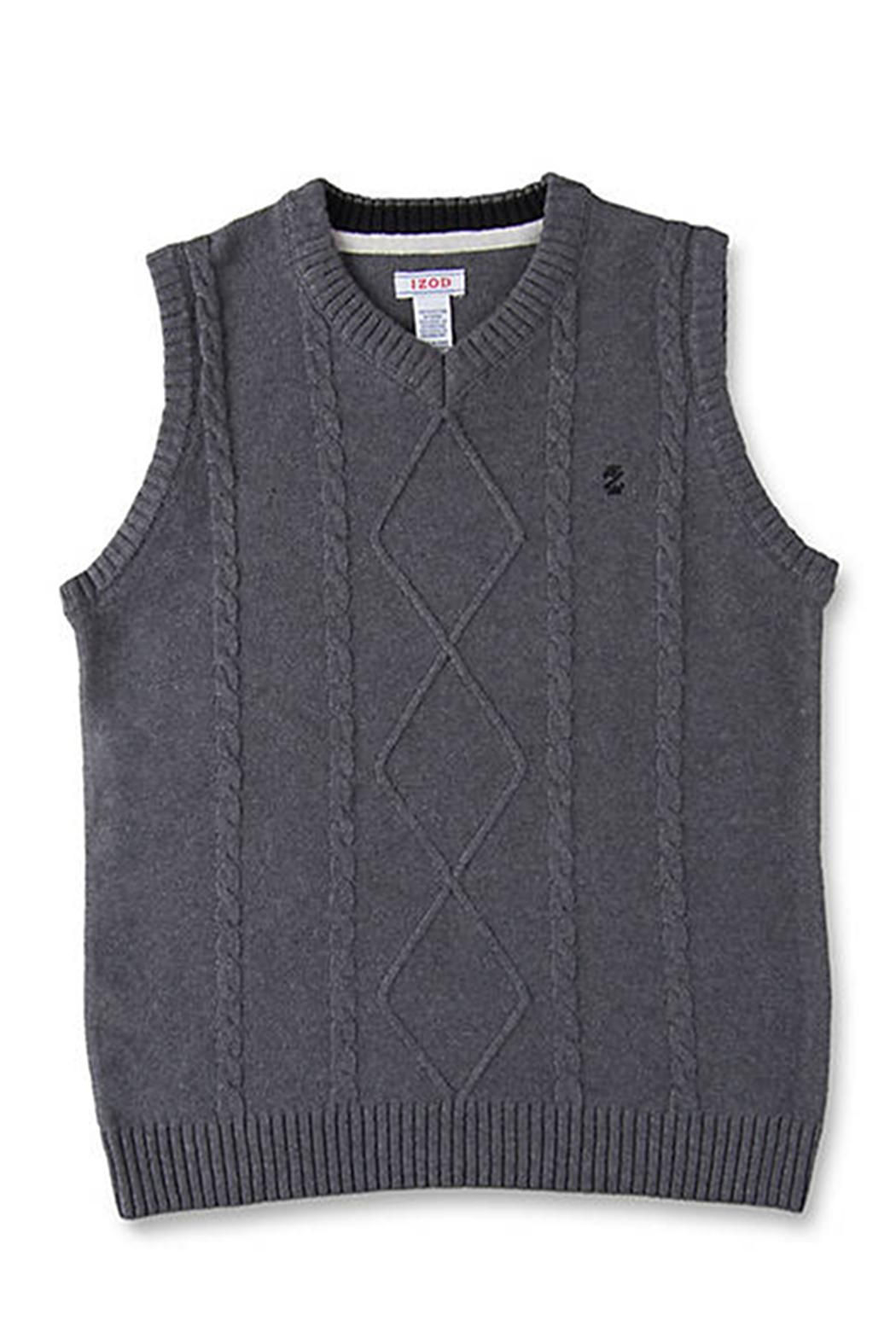 Izod Cable Sweater Vest - Front Cropped Image