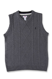 Izod Cable Sweater Vest - Front cropped