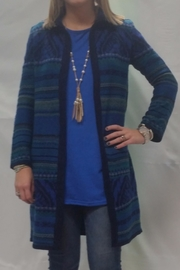 Cable & Gauge Long Cardigan - Front cropped