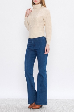 A. Calin Cableknit Turtleneck Sweater - Product List Image