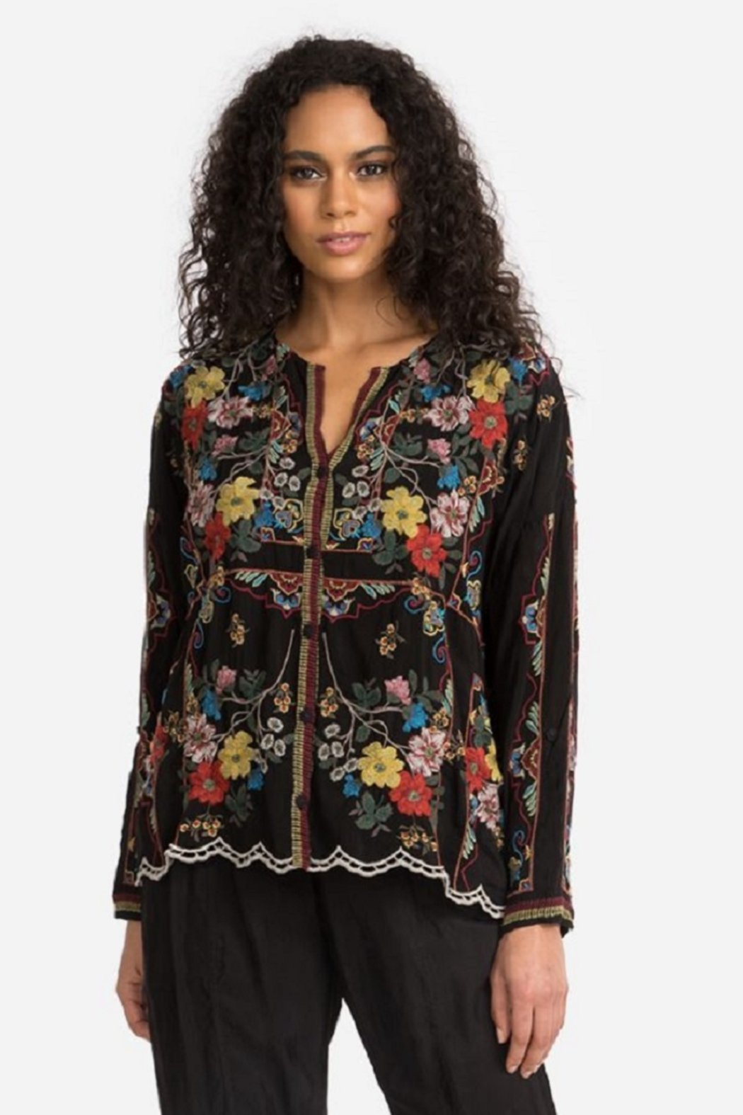 Johnny Was Collection Cabo Button Down Blouse - Main Image