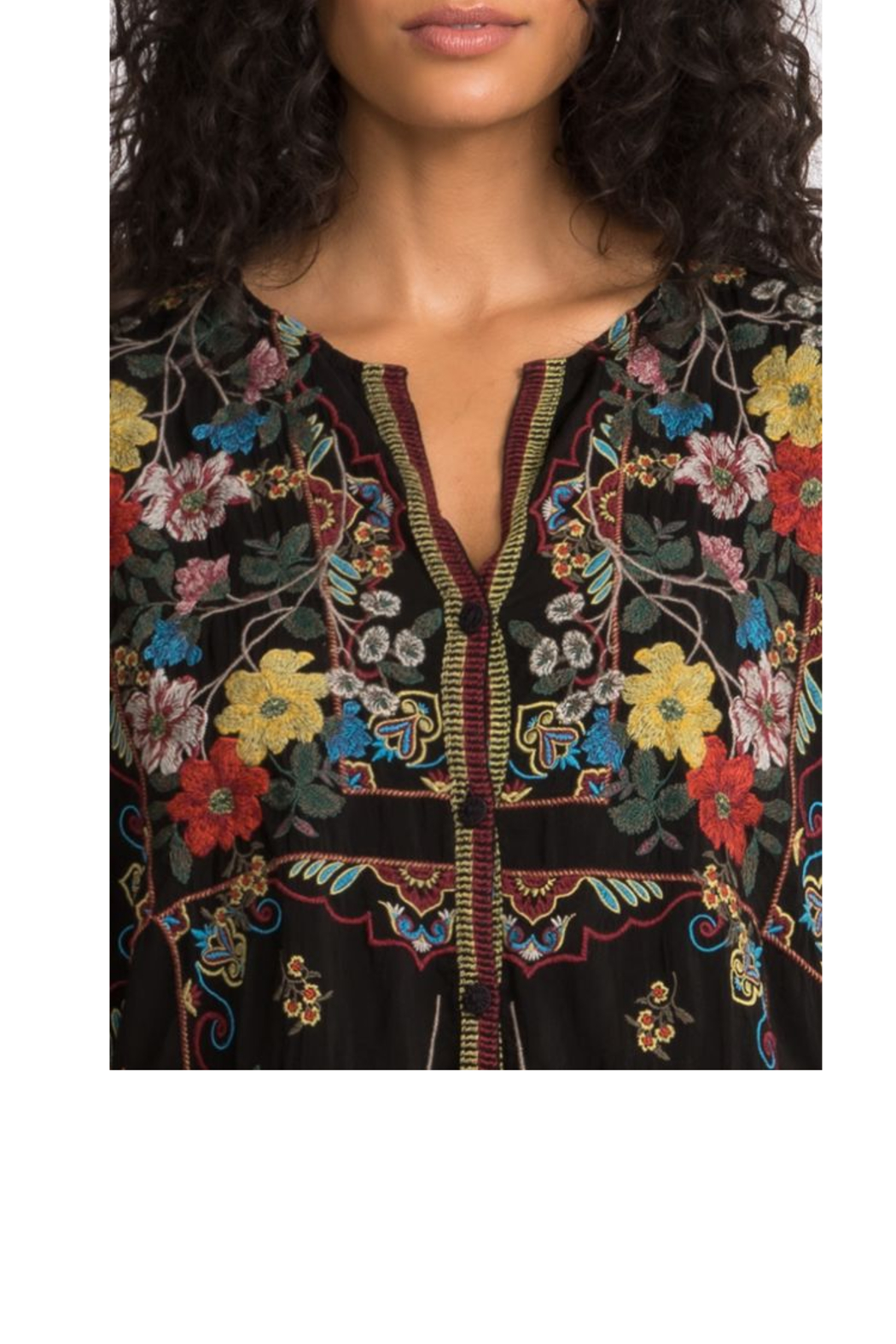 Johnny Was Collection Cabo Button Down Blouse - Back Cropped Image
