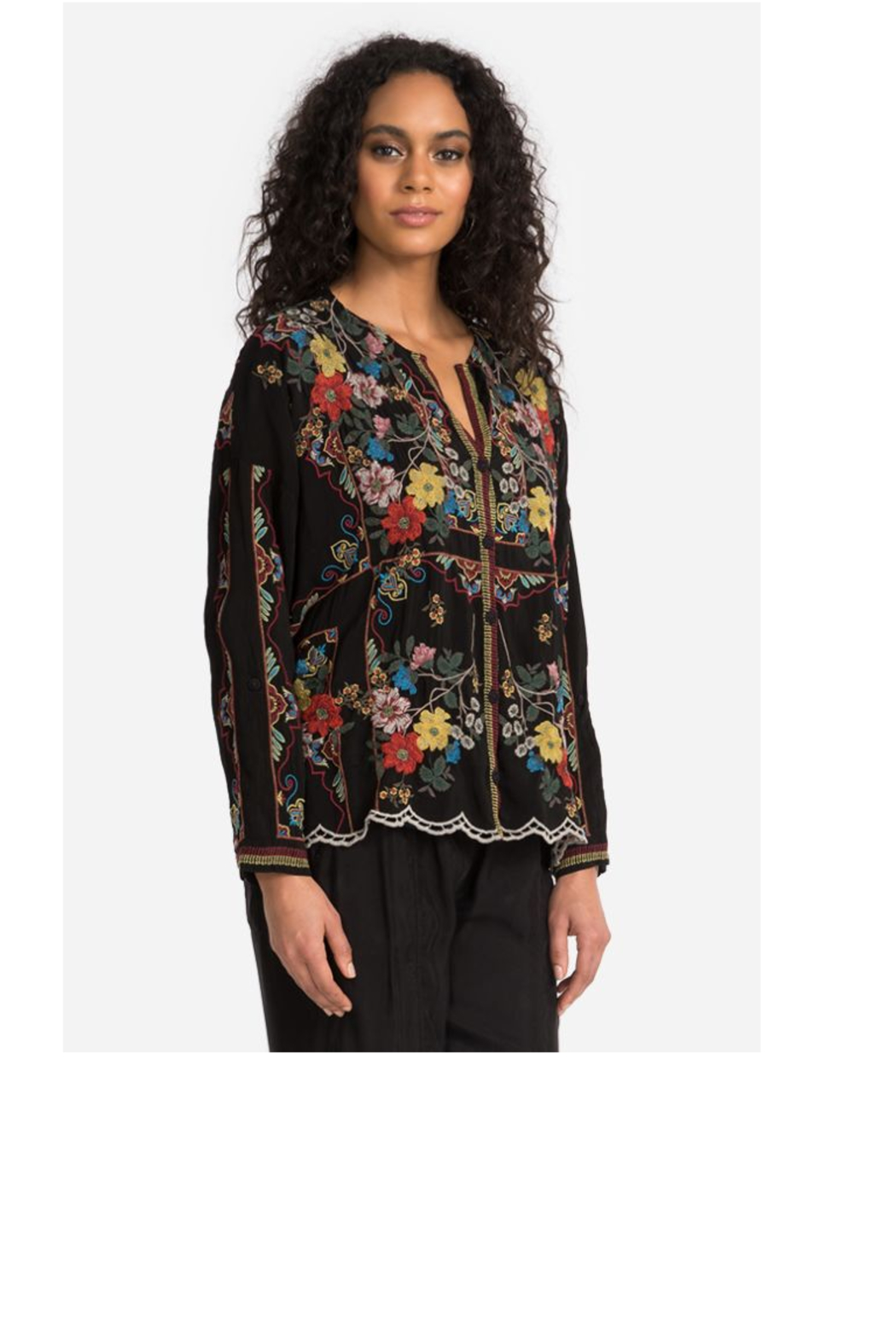 Johnny Was Collection Cabo Button Down Blouse - Side Cropped Image