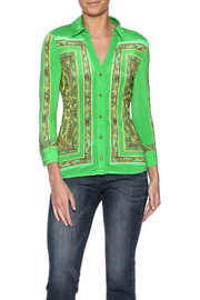 Cachet Collared Buttoned Top - Product Mini Image