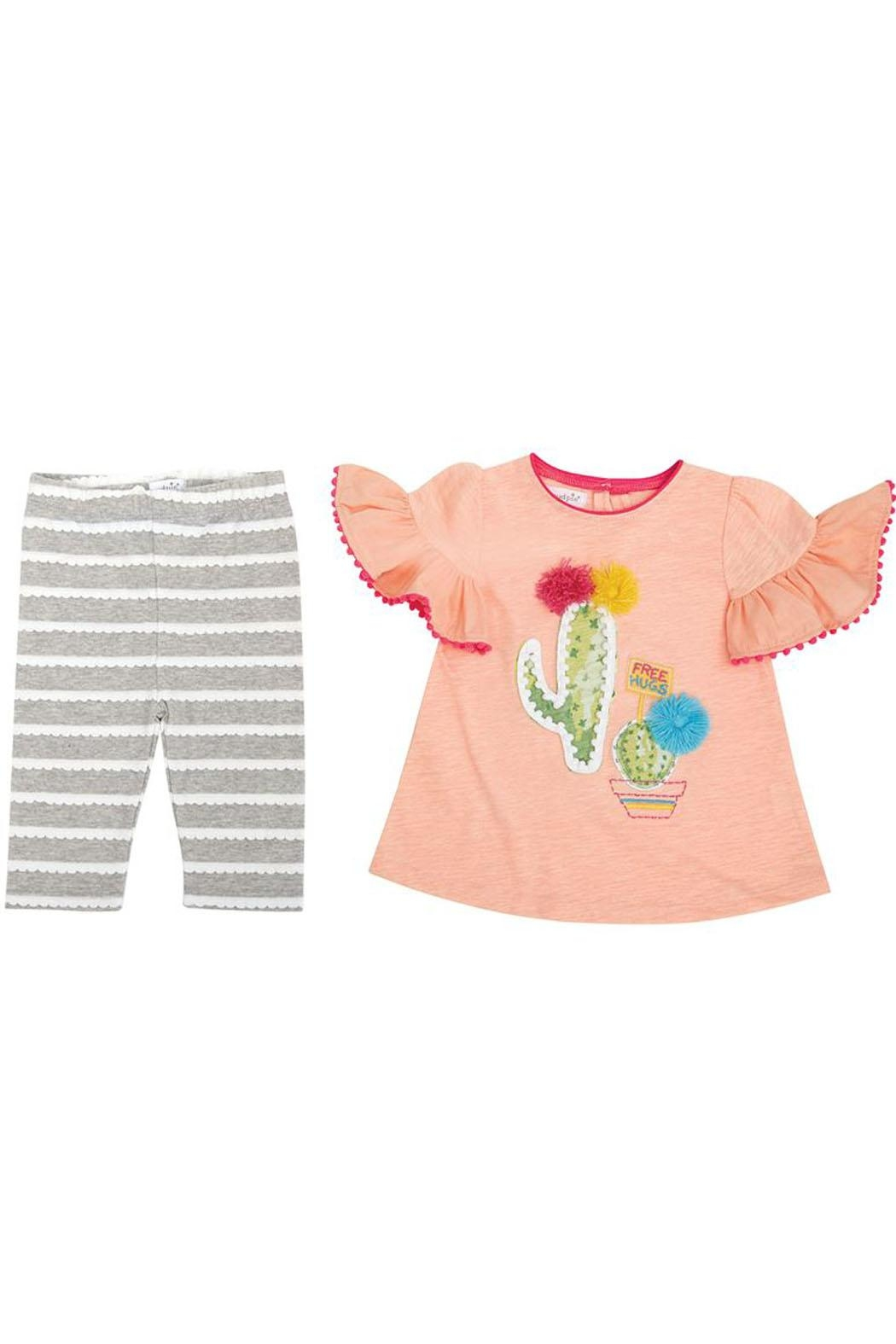 Mud Pie Cactus Capri Set - Front Cropped Image